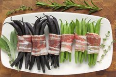 Beans and bacon Royalty Free Stock Photo