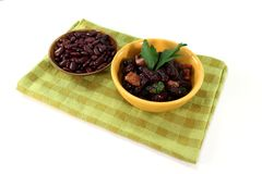 Beans with bacon Stock Images