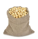 Beans in a bag Royalty Free Stock Photo
