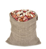 Beans in bag Royalty Free Stock Images