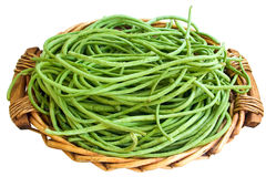 Beans in basket Stock Photo