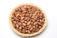 Beans in basket 4 Stock Photo