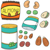 Beans and bean products. Vector set of beans and bean products Stock Image