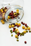 Beans and Bottle. Beans is a Chinese favorite foods Royalty Free Stock Photography