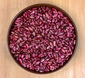 Beans in a bowl of clay Royalty Free Stock Photo