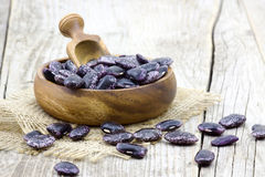 Beans in bowl Stock Images