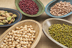 Beans in bowls abstract Stock Photo