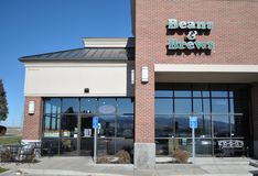 Beans and Brew coffee shop Royalty Free Stock Photography