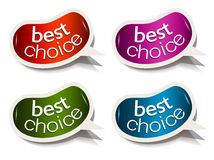 Beans bubble speech with Best Choice motive Royalty Free Stock Photos