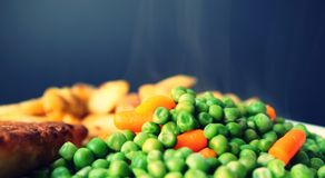 Beans, Carrots, Close-up Stock Image
