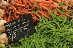 Beans and carrots Royalty Free Stock Images