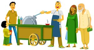 Beans Cart stock illustration