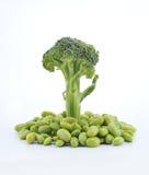 Beans and cauliflower stock image