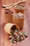 Beans, chickpeas, lentils Royalty Free Stock Images
