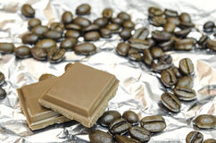 beans chocolate coffee Στοκ Φωτογραφίες