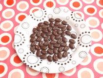 Beans of chocolate Stock Photos