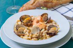 Beans and clams Stock Photography