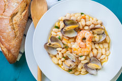Beans and clams Royalty Free Stock Photos