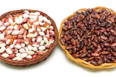 Beans close-up on white background Stock Photo