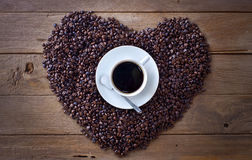 Beans&Coffee καφέ Στοκ Φωτογραφία