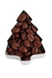 Beans of coffee in  form of Fir Tree Royalty Free Stock Images