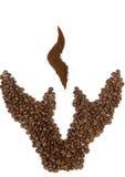 beans coffee hands Стоковая Фотография