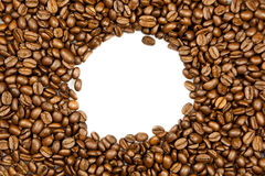 Beans of coffee isolated on white background concept for design Stock Image