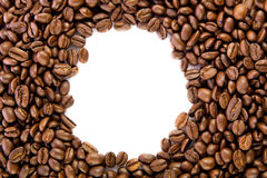 Beans of coffee isolated on white background concept for design Stock Photography