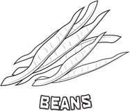 Beans coloring page Royalty Free Stock Images
