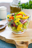Beans and Corn salad Royalty Free Stock Photo