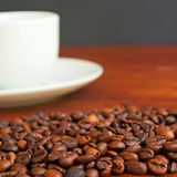 Beans and cup Stock Image