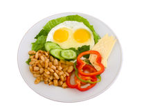 Beans and eggs Royalty Free Stock Image