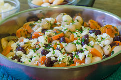 Beans with feta cheese Stock Images