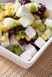 Beans & feta cheese salad Royalty Free Stock Photo