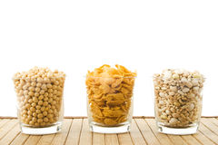 Beans and flakes Royalty Free Stock Images