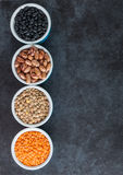 Beans and grains varieties Royalty Free Stock Photography