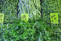 Beans, green peas, green beans, parsley Royalty Free Stock Photos