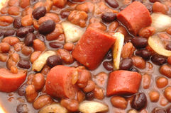 Beans and hot dog stew Stock Photos
