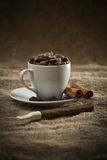 Beans In Cup And Cigar Stock Images