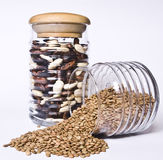Beans and lentils royalty free stock image