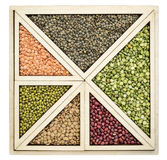 Beans and lentils abstract Stock Image