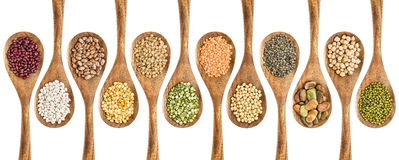 Beans, lentils and pea collection Royalty Free Stock Images