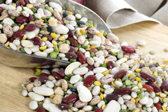Beans & Lentils in Scoop - horozontal Royalty Free Stock Image