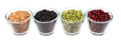 Beans, lentils and split peas Stock Photo