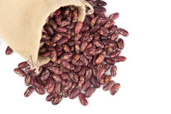 Beans in a linen bag Royalty Free Stock Photo