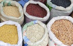 Beans market Stock Images