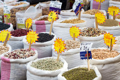 Beans at the Market. Beans at the South italian Market Royalty Free Stock Photo