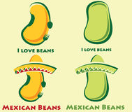 Beans and mexican beans Stock Photos