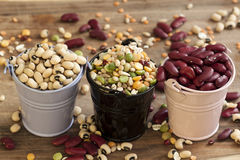 Beans in a mix. stock images