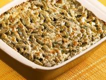 Beans and mozzarella casserole Royalty Free Stock Photos
